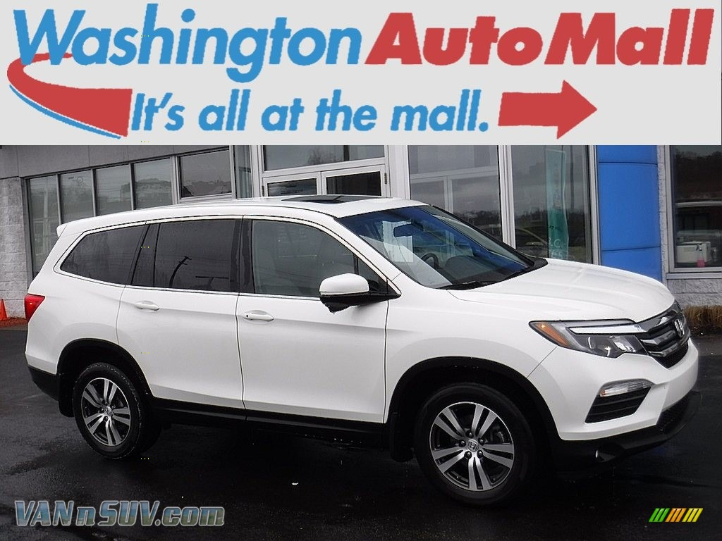 2016 Pilot EX-L AWD - White Diamond Pearl / Beige photo #1