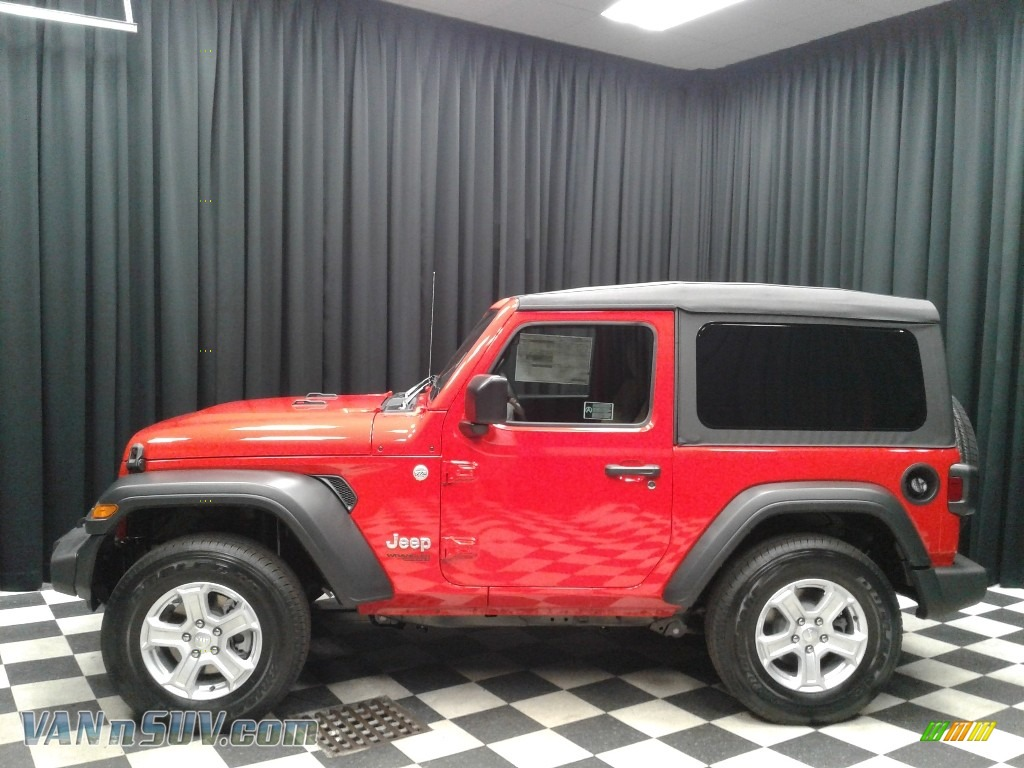 2018 Wrangler Sport 4x4 - Firecracker Red / Black/Heritage Tan photo #1