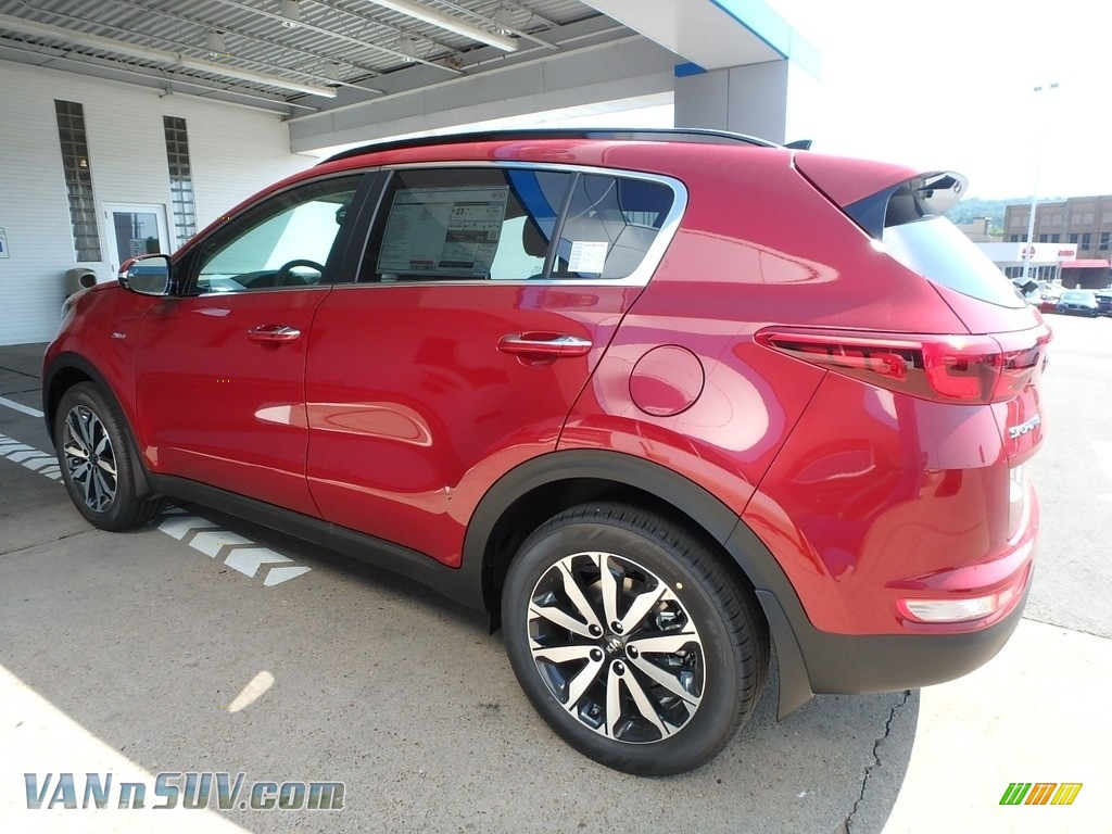 2019 Sportage EX AWD - Hyper Red / Black photo #5
