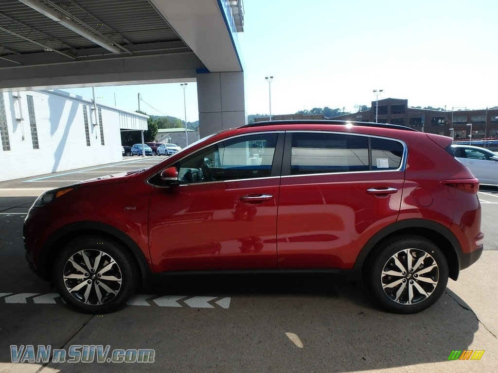 2019 Sportage EX AWD - Hyper Red / Black photo #6