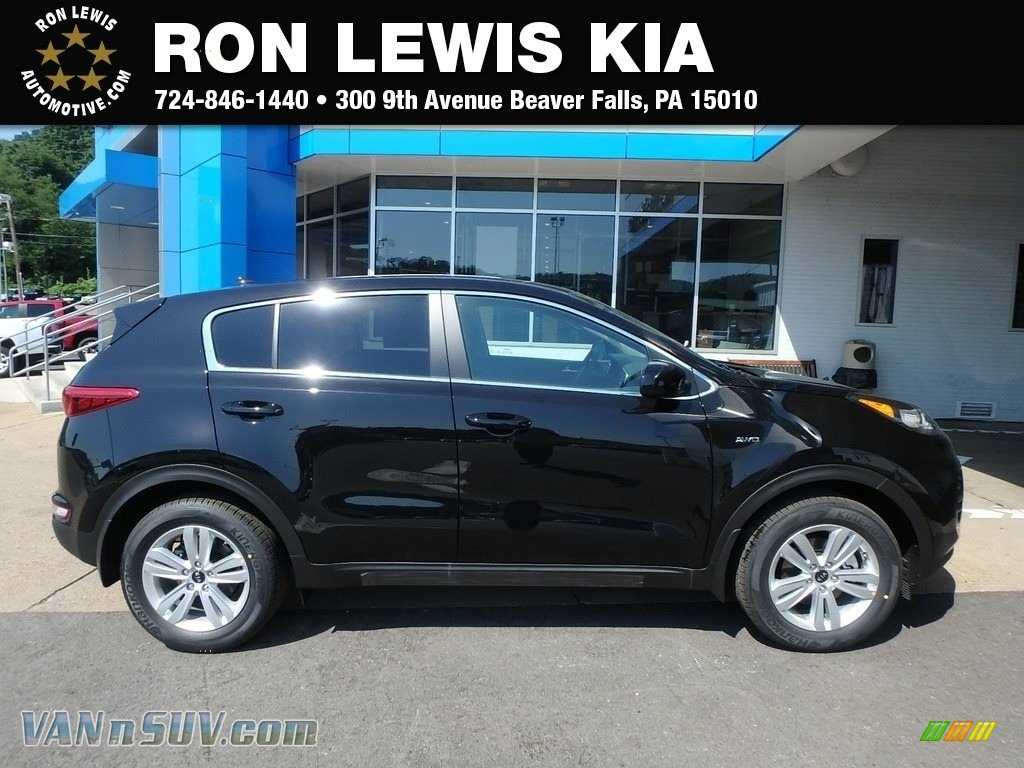 2019 Sportage LX AWD - Black Cherry / Black photo #1