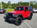 Jeep Wrangler Willys Wheeler 4x4 Firecracker Red photo #1