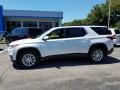Chevrolet Traverse LT AWD Pearl White photo #3