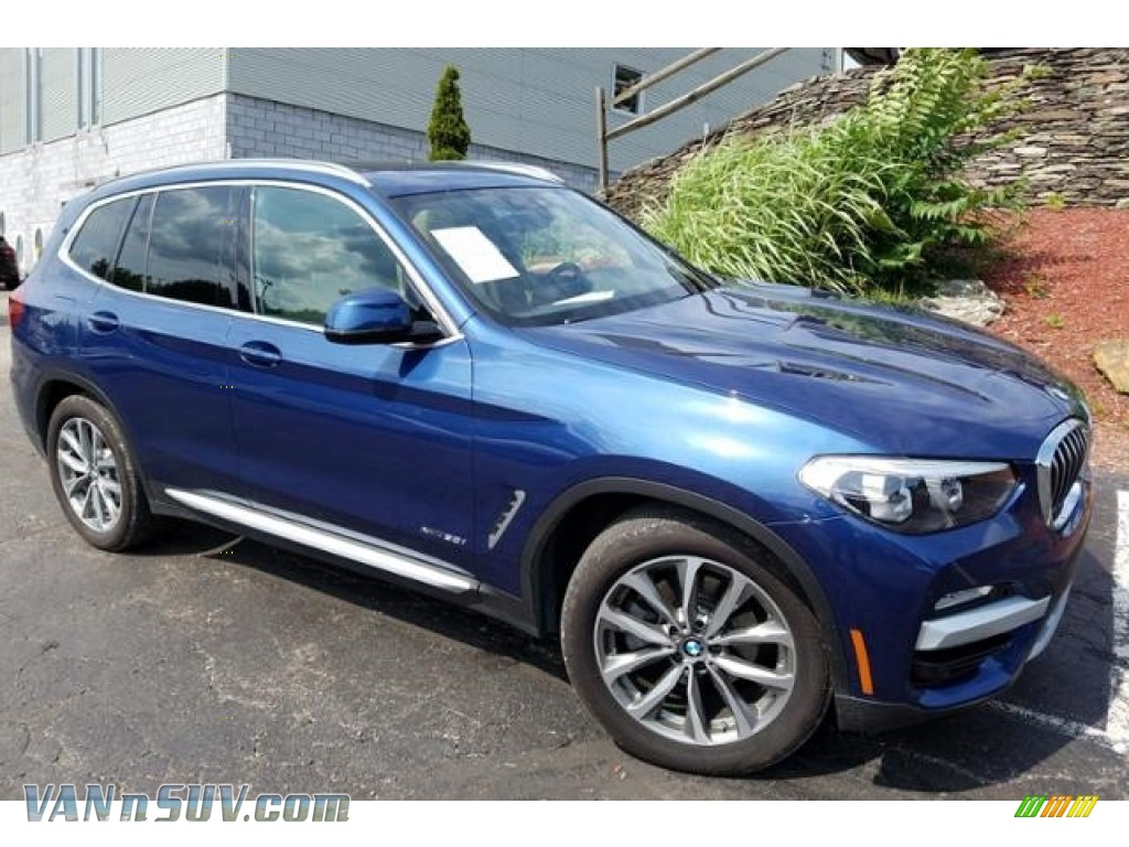 2018 X3 xDrive30i - Phytonic Blue Metallic / Canberra Beige/Black photo #1