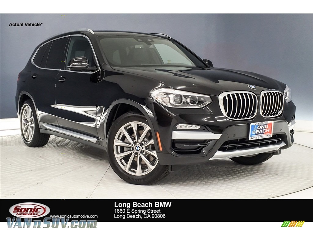 2019 X3 sDrive30i - Jet Black / Black photo #1