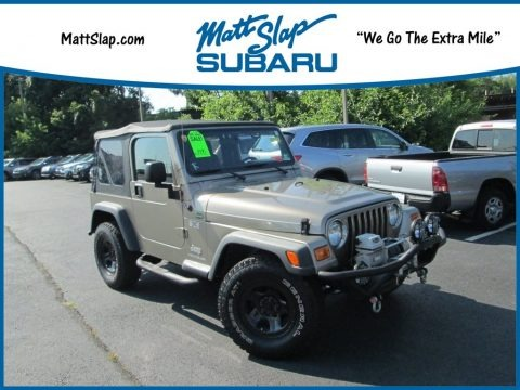 Bright Silver Metallic 2004 Jeep Wrangler X 4x4