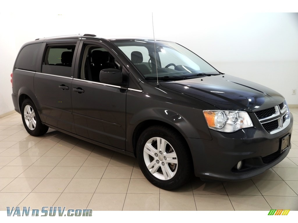 2012 Grand Caravan Crew - Dark Charcoal Pearl / Black/Light Graystone photo #1