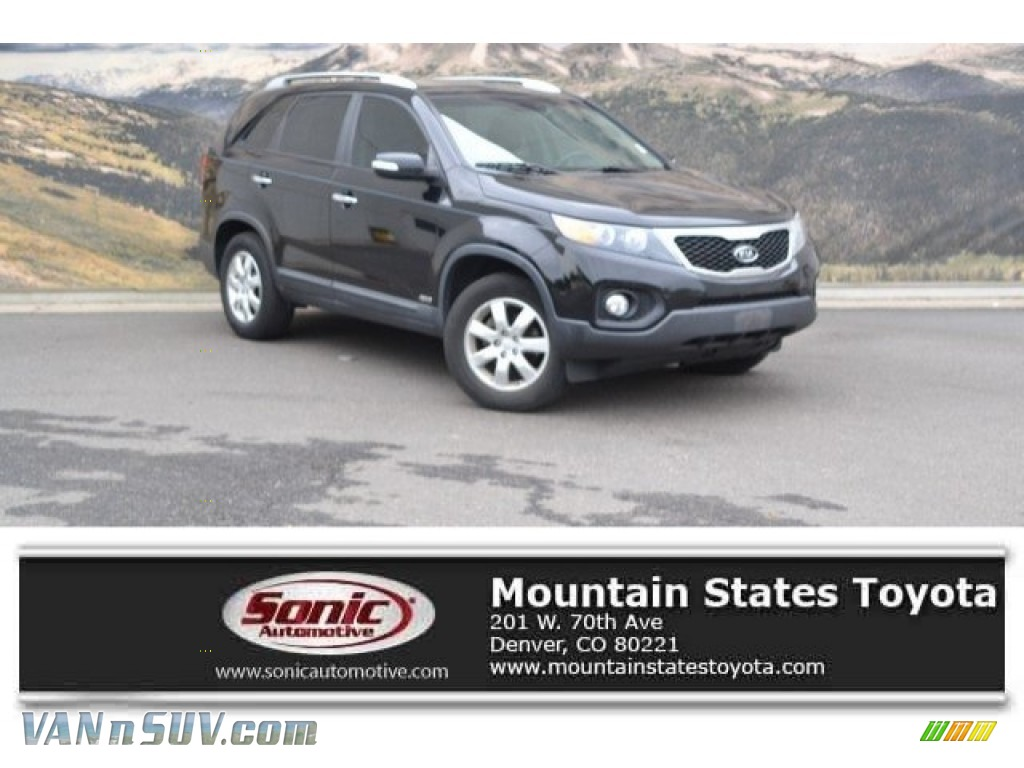 2011 Sorento LX AWD - Ebony Black / Black photo #1