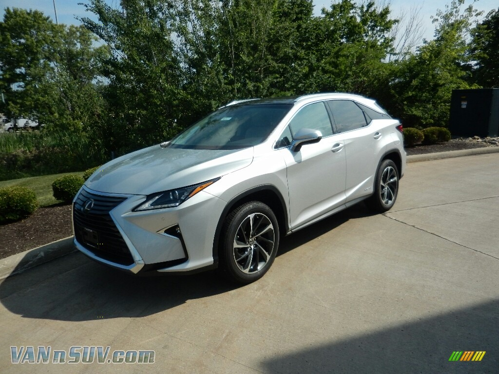 2018 RX 450h AWD - Silver Lining Metallic / Stratus Gray photo #1