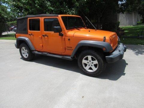 Crush Orange 2012 Jeep Wrangler Unlimited Sport 4x4