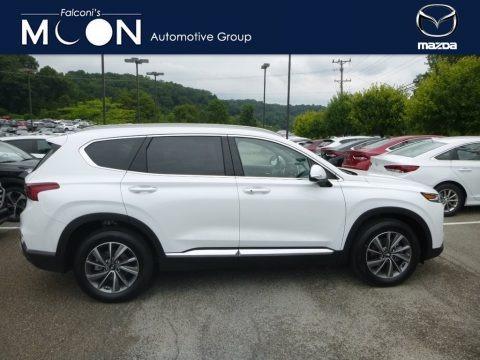 Quartz White 2019 Hyundai Santa Fe Ultimate AWD