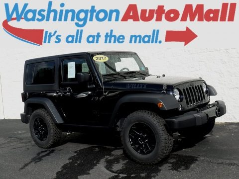Black 2017 Jeep Wrangler Willys Wheeler 4x4