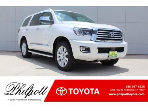 Blizzard White Pearl 2018 Toyota Sequoia Platinum