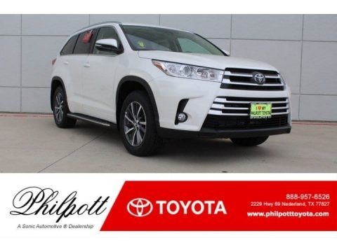 Blizzard White Pearl 2018 Toyota Highlander XLE