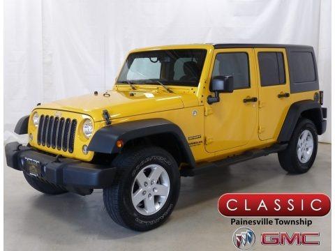 Baja Yellow 2015 Jeep Wrangler Unlimited Sport 4x4