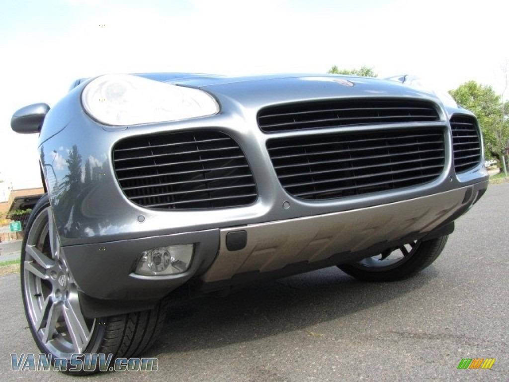 2004 Cayenne Turbo - Titanium Metallic / Stone/Steel Grey photo #1