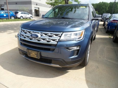 Blue Metallic 2018 Ford Explorer XLT