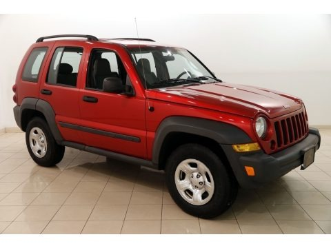 Inferno Red Crystal Pearl 2007 Jeep Liberty Sport 4x4