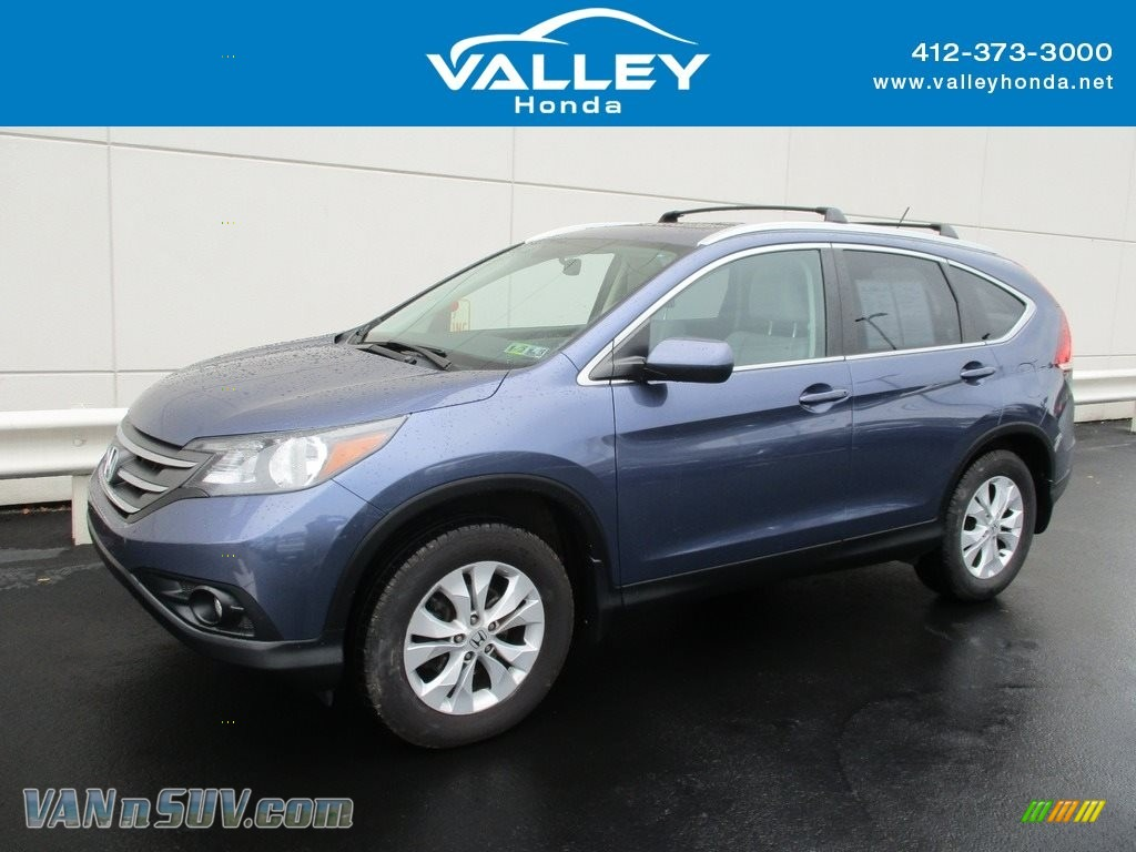 2014 CR-V EX-L AWD - Mountain Air Metallic / Gray photo #1