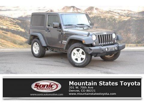 Granite Crystal Metallic 2016 Jeep Wrangler Sport