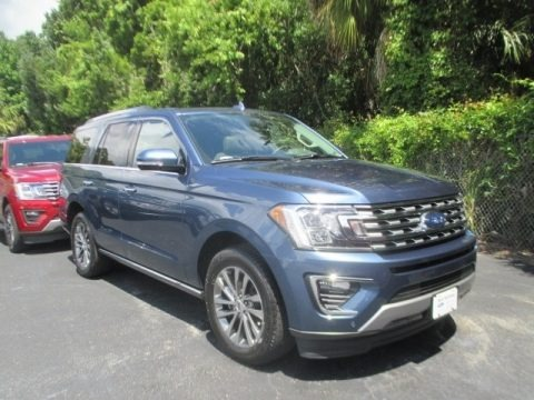 Blue 2018 Ford Expedition Limited
