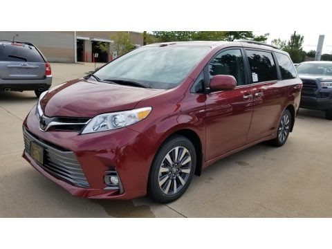 Salsa Red Pearl 2019 Toyota Sienna XLE AWD