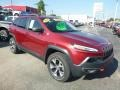 Jeep Cherokee Trailhawk 4x4 Deep Cherry Red Crystal Pearl photo #7