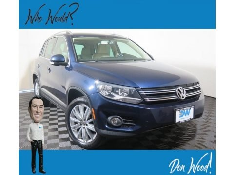 Night Blue Metallic 2012 Volkswagen Tiguan SE 4Motion