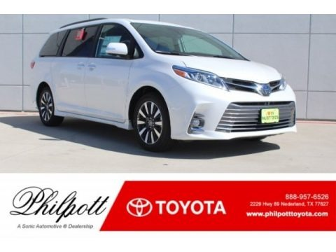 Blizzard Pearl White 2019 Toyota Sienna Limited