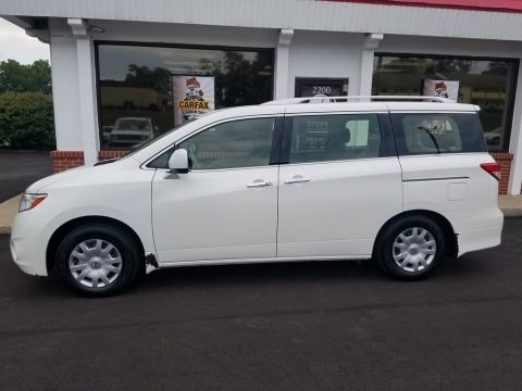 Pearl White 2013 Nissan Quest 3.5 S