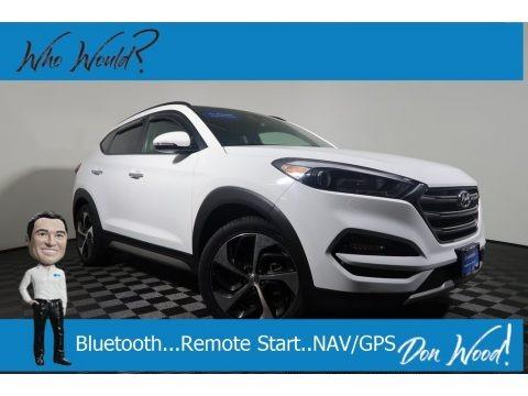 Dazzling White 2017 Hyundai Tucson Limited AWD