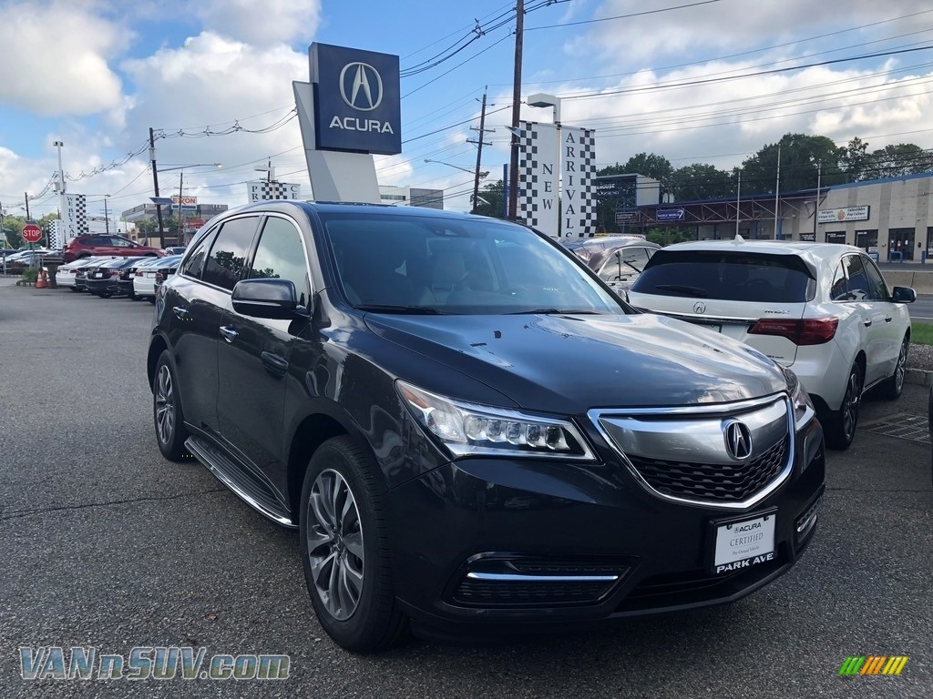 2016 MDX SH-AWD Technology - Graphite Luster Metallic / Graystone photo #1