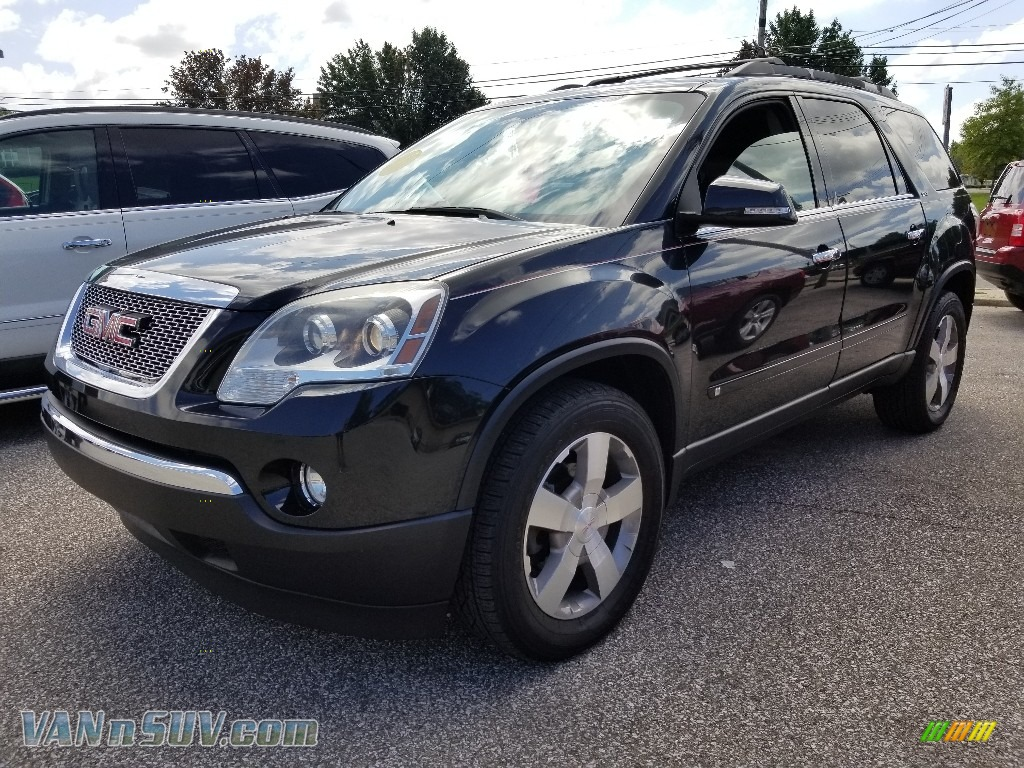 2010 Acadia SLT - Carbon Black Metallic / Ebony photo #1