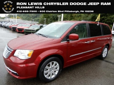 Deep Cherry Red Crystal Pearl 2016 Chrysler Town & Country Touring