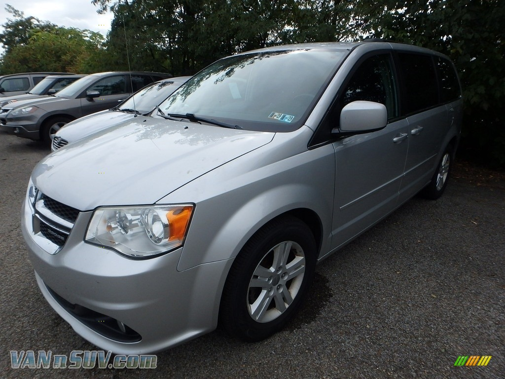 2012 Grand Caravan Crew - Bright Silver Metallic / Black/Light Graystone photo #1