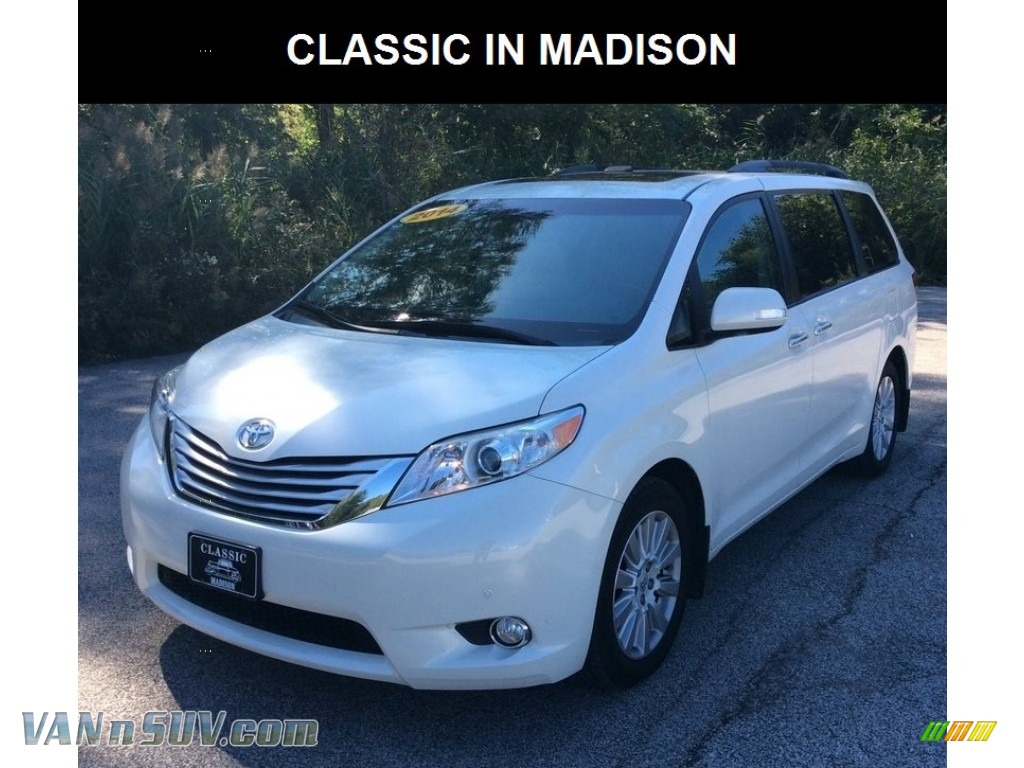 2014 Sienna Limited AWD - Super White / Light Gray photo #1