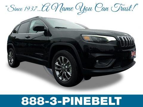 Diamond Black Crystal Pearl 2019 Jeep Cherokee Latitude Plus 4x4