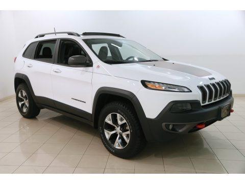 Bright White 2018 Jeep Cherokee Trailhawk 4x4