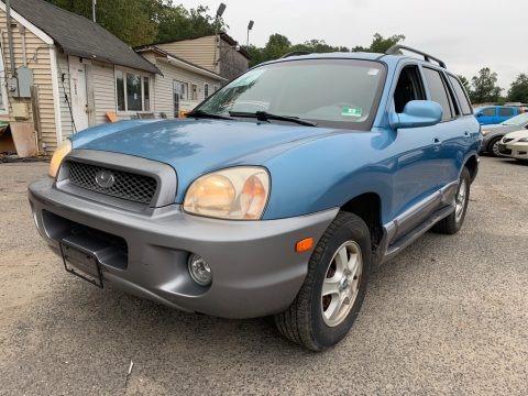 Crystal Blue 2003 Hyundai Santa Fe GLS