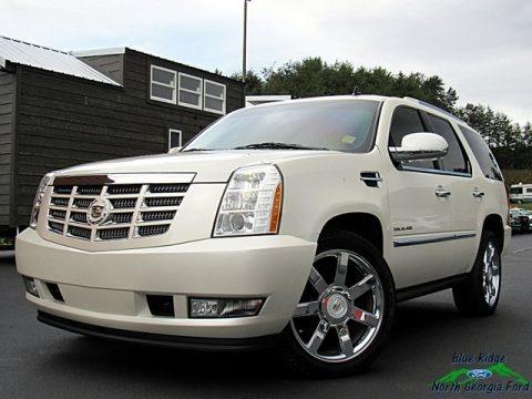 White Diamond Tricoat 2011 Cadillac Escalade Premium AWD