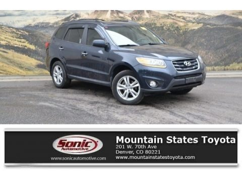 Pacific Blue Pearl 2011 Hyundai Santa Fe Limited