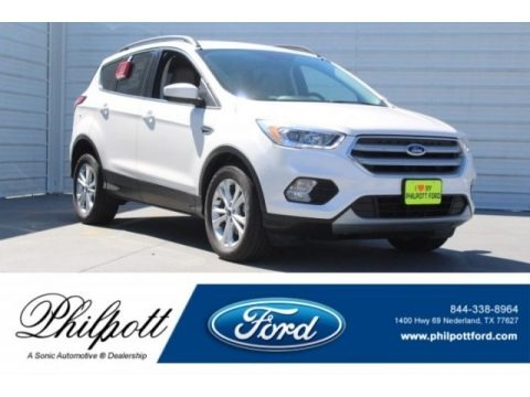 White Platinum 2018 Ford Escape SEL