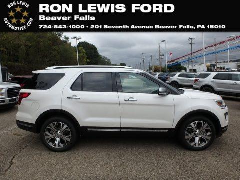 White Platinum 2018 Ford Explorer Platinum 4WD