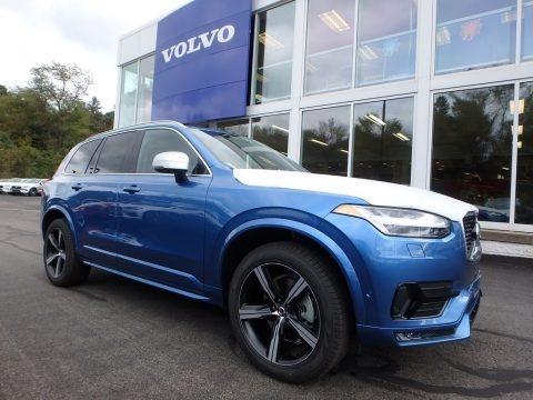 Bursting Blue Metallic 2019 Volvo XC90 T6 AWD R-Design