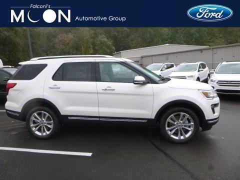 White Platinum 2018 Ford Explorer Limited 4WD
