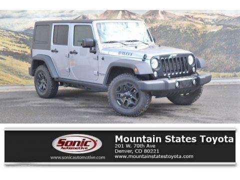 Billet Silver Metallic 2016 Jeep Wrangler Unlimited Willys Wheeler 4x4