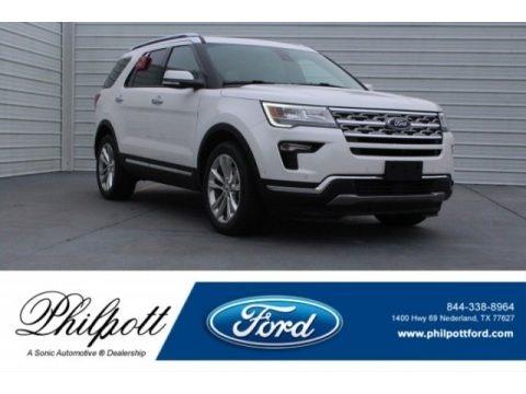 White Platinum 2018 Ford Explorer Limited