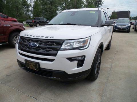 White Platinum 2018 Ford Explorer XLT 4WD