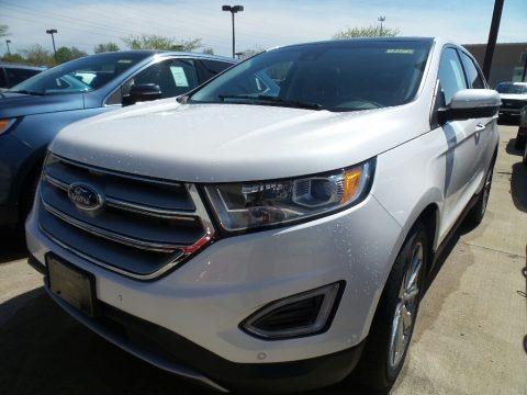 White Platinum 2018 Ford Edge Titanium AWD