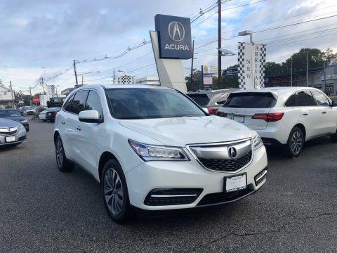 White Diamond Pearl 2016 Acura MDX SH-AWD Technology